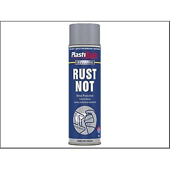 Plasti-kote Rust Not Spray Matt Silver Grey 500ml