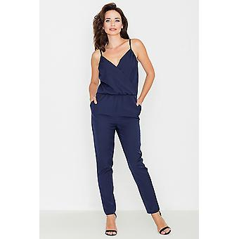 Katrus women's jumpsuits coverall Navy