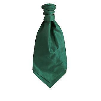 Dobell Racing Green Dupion Cravat (Pre-Tied & Hand Tied)