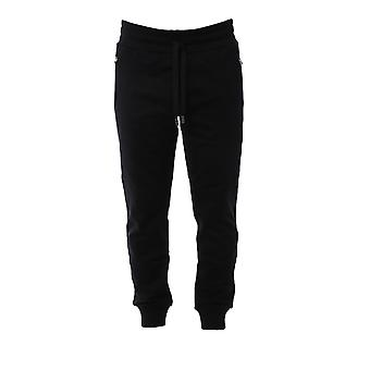 Dolce E Gabbana Black Cotton Joggers