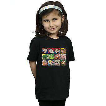 Disney Girls Toy Story Character Squares T-Shirt