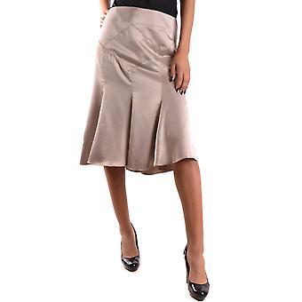 Just Cavalli Gold Polyester Skirt