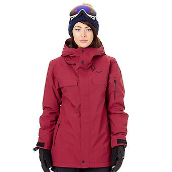 Oakley Burgundy Insulated 10K 2 Layer Womens Snowboarding Jacket