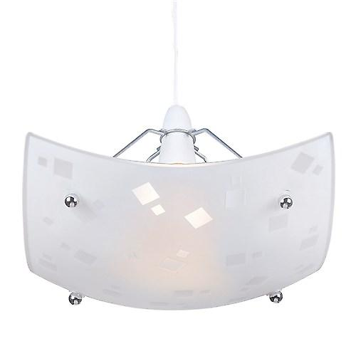 Endon NE-63 Non Electric Rectangular Glass And Chrome Pendant Shade