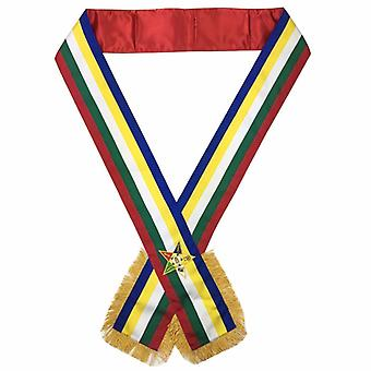 Freimaurerordnung des Eastern Star OES Sash Five Color Sash
