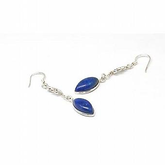 Toc Sterling Silver Delicate Lapis Color Drop Earrings