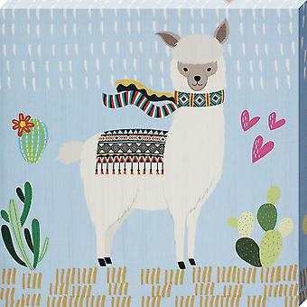 Grindstore Little Llama III Canvas Print