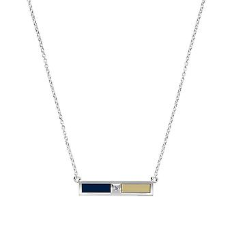 Oral Roberts University Diamond Bar Necklace In Blue And Tan