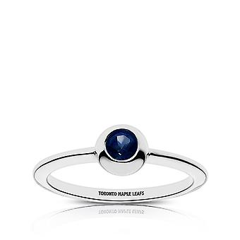Toronto Maple Leafs-Toronto Maple Leafs graveret safir ring
