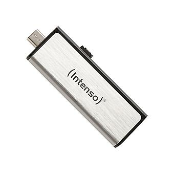 Key USB and Micro USB INTENSO 3523480 32 GB Silver