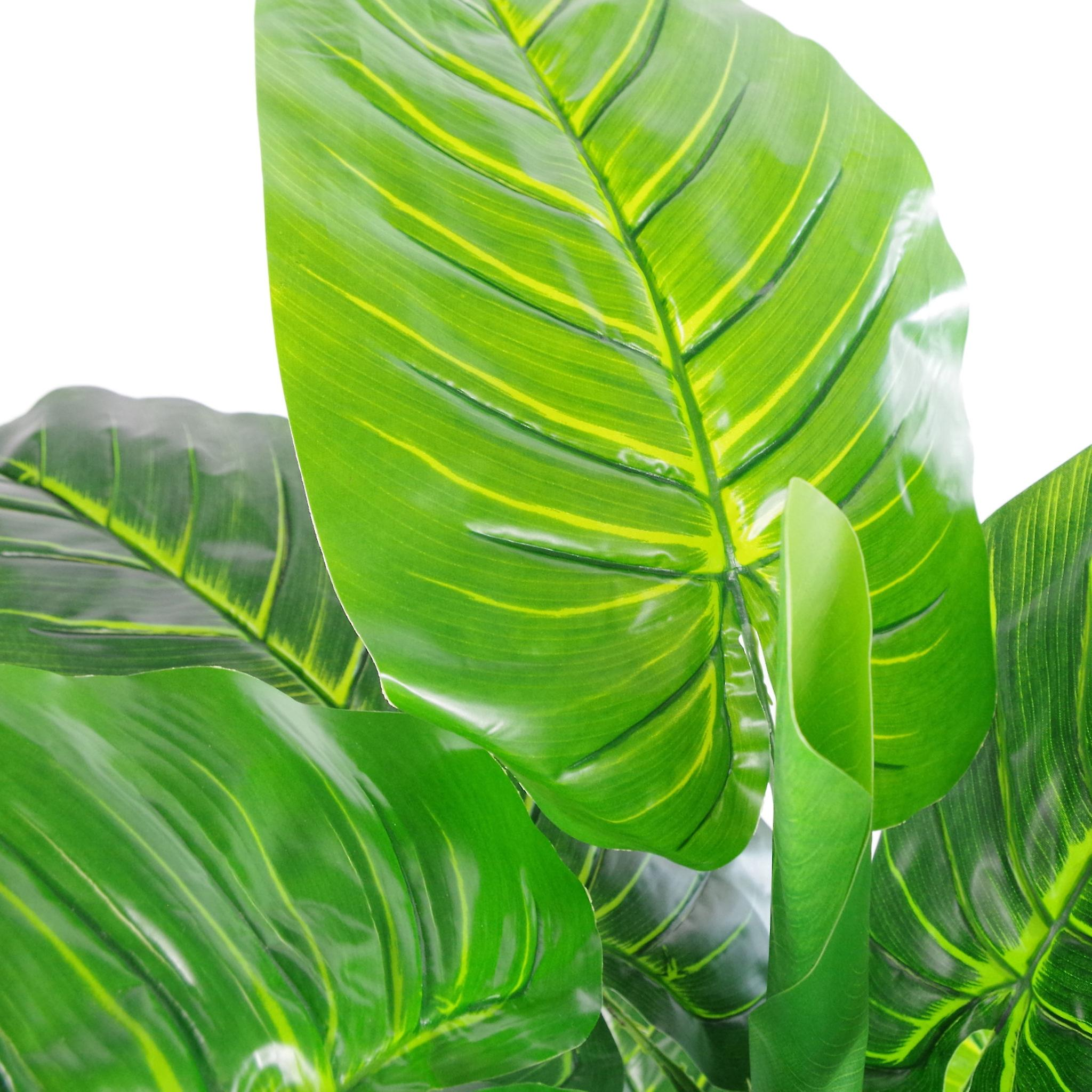 105cm Artificial Elephant Ear Plant (Colocasia) - Extra Large