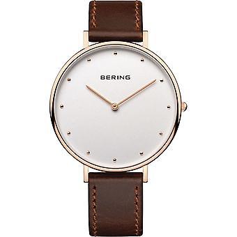 Bering Women's Watch Wristwatch Slim Classic - 14839-564 Leather