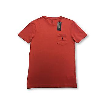 Ralph Lauren Polo custo fit T-shirt in post red