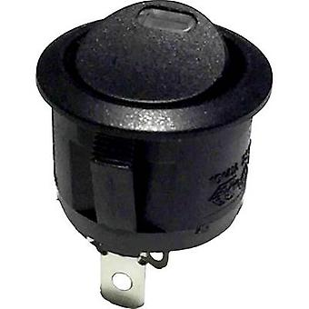 Toggle switch R13-112L B/B RED 3V 250 V AC 6 A 1 x Off/On latch 1 pc(s)
