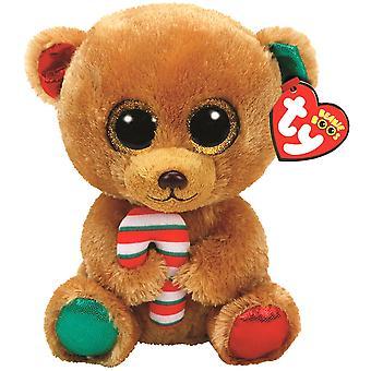 TY Beany Boos Bella The Christmas Bear Stor Gosedjur Plysch Mjukis 42cm