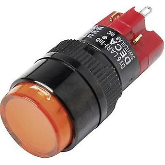 Pushbutton switch 250 Vac 5 A 1 x Off/On DECA D16LAR1-1abBO IP40 latch 1 pc(s)