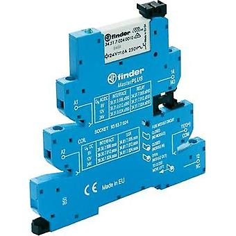 Finder 39.31.7.125.0060 - MasterPLUS Electromechanical Relay Interface Module, EMR, SPDT-CO 250Vac 6A