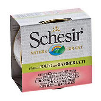 Schesir Chicken fillets with prawns in broth (Cats , Cat Food , Wet Food)