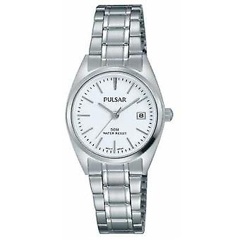 Pulsar Womens Stainless Steel Bracelet White Dial PH7439X1 Watch