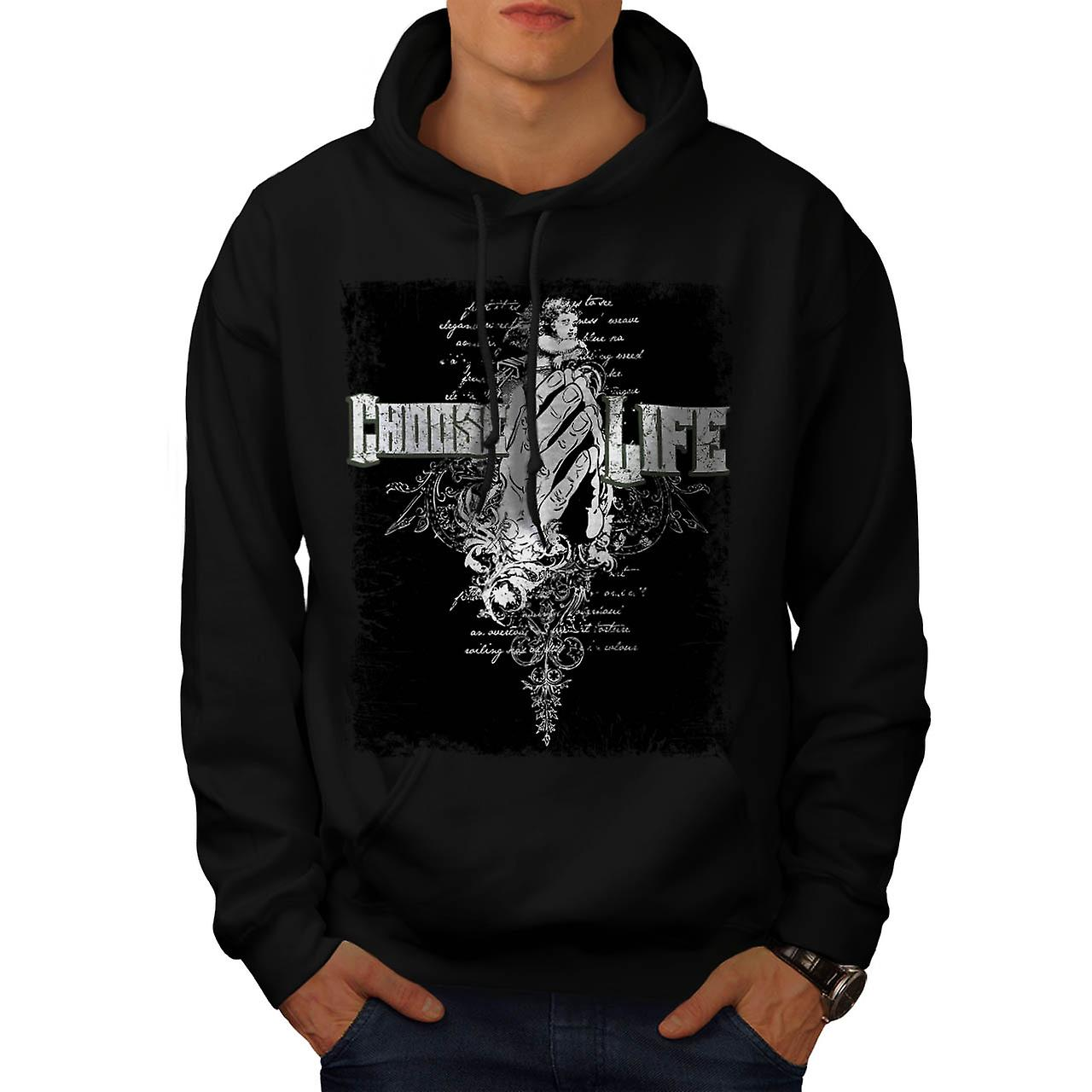 Choose Life Dead Gangster Men Black Hoodie | Wellcoda