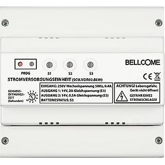 Video door intercom Corded DIN rail power supply unit Bellcome SCU.VDR02.BLW White