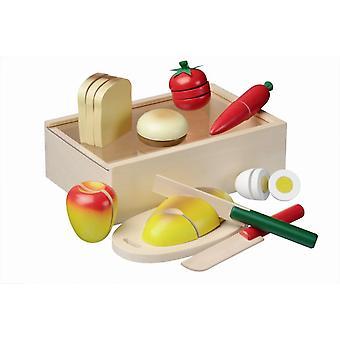 Ontbijt snijset in kistje New Classic Toys 21x14 cm