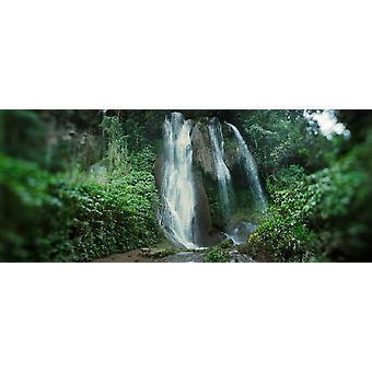 Waterfalls of Topes de Collantes Escambray Mountains Cuba Poster Print