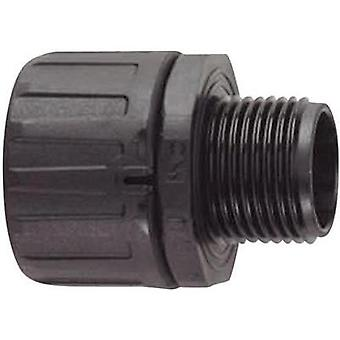 HellermannTyton 166-21001 HG13-S-M16 HelaGuard Straight Conduit Fitting Polyamide 6.6 9.8 mm Black