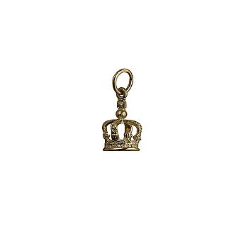 9ct Gold 12x8mm Royal Crown Pendant or Charm