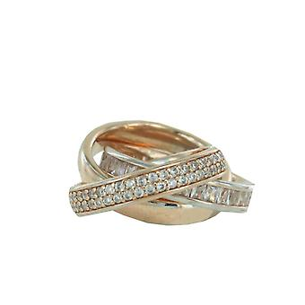 ESPRIT collection ladies ring silver Rosé cubic zirconia Tridelia ELRG92258B