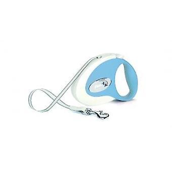 Flexi Sammlung Band frisches blau/weiß klein 12kg - 3m (10ft)