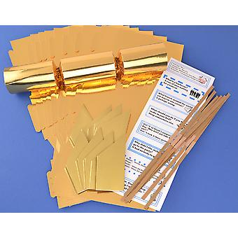 100 Gold Foil Make & Fill Your Own Cracker Kits - Bulk Buy