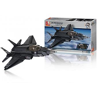 Sluban Building Blocks Army Series Fighter Jet