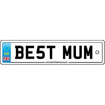 Best Mum License Plate Car Air Freshener