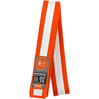 Hayabusa Youth Jiu-Jitsu Belt - Orange/White
