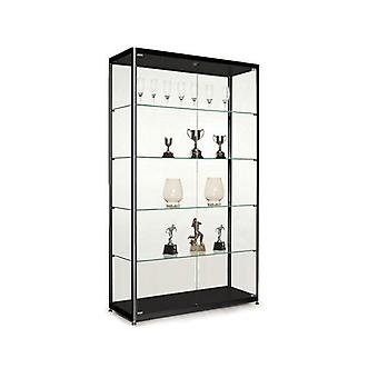 Black Glass Display Cabinet - 1000mm