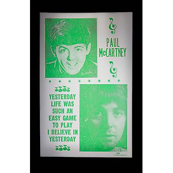Paul McCartney affisch