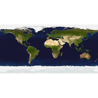 The Blue Marble Land Surface Ocean Color and Sea Ice Poster Print