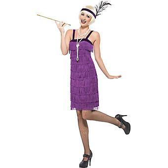 20's Charleston costume dress ladies flapper costume fringed purple