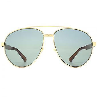 Gucci Aviator Sunglasses In Gold Havana