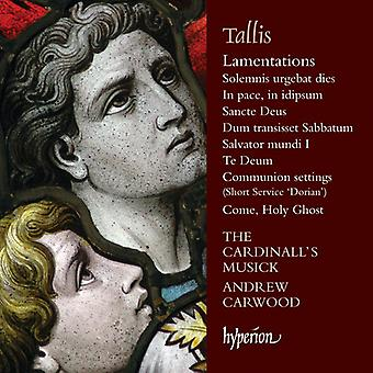 Tallis / Cardinall's Musick / Carwood, Andrew - Lamentations & Other Sacred Music [CD] USA import