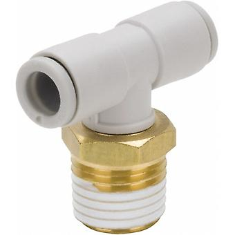 SMC Pneumatic Tee Threaded-to-Tube Adapter, 3/8in x 8mm x 8mm