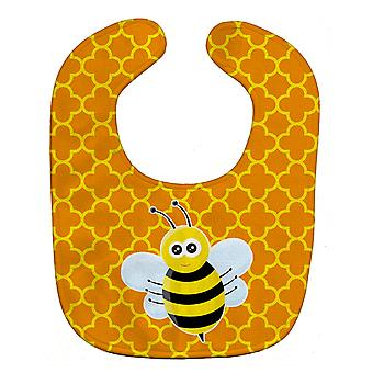 Carolines schatten BB8596BIB Bee on Quatrafoil Baby slabbetje