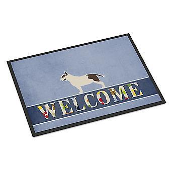 Carolines Treasures  BB5582MAT Bull Terrier Welcome Indoor or Outdoor Mat 18x27