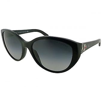 Ralph Lauren Ex-display Ralph Lauren Ladies Black Cat Eye Gradient Sunglasses