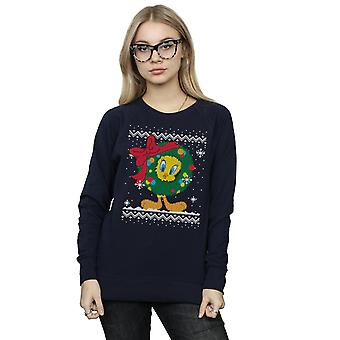 Looney Tunes Women's Tweety Pie Christmas Fair Isle Sweatshirt