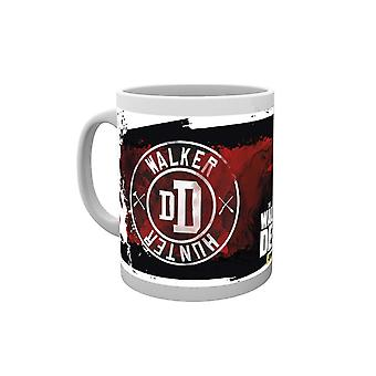 The Walking Dead Mug Walker Hunter Patch new Official AMC White Boxed