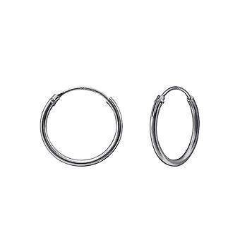 14mm - 925 Sterling Silver Ear Hoops - W31507X