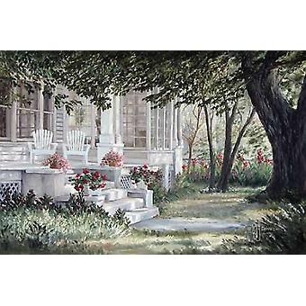 Country Porch Poster Print by Georgia Janisse (18 x 12)