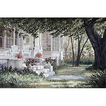 Land veranda affisch Skriv av Georgien Janisse (18 x 12)